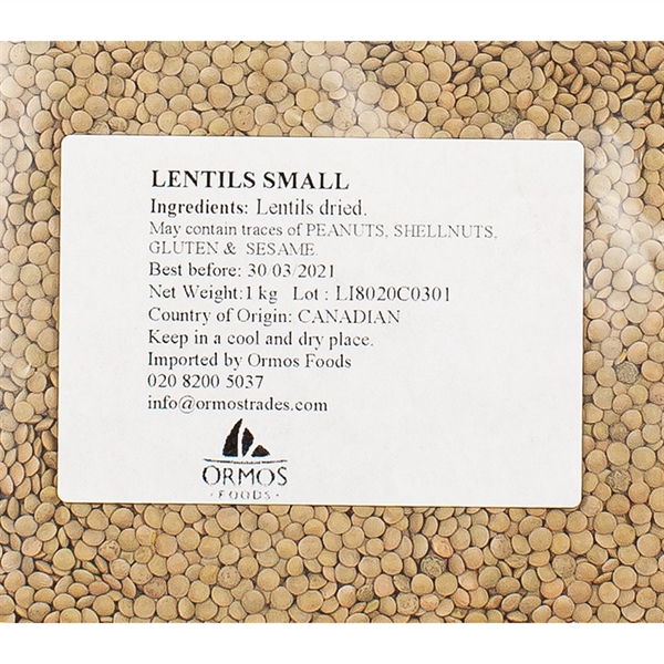 PUL005_Lentils from Greece_1kg_label