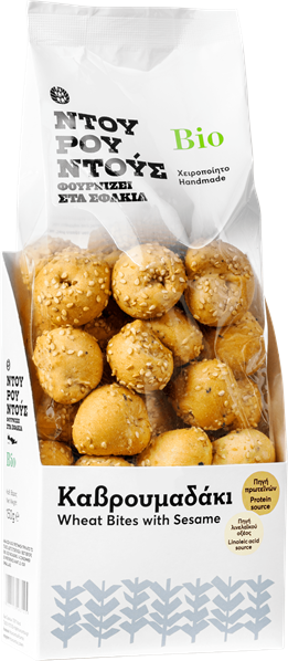Mama Creta Organic Wheat bites with Sesame-min